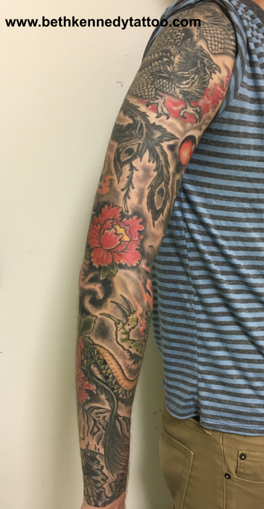 More of a Japanese traditional sleeve - Beth Kennedy