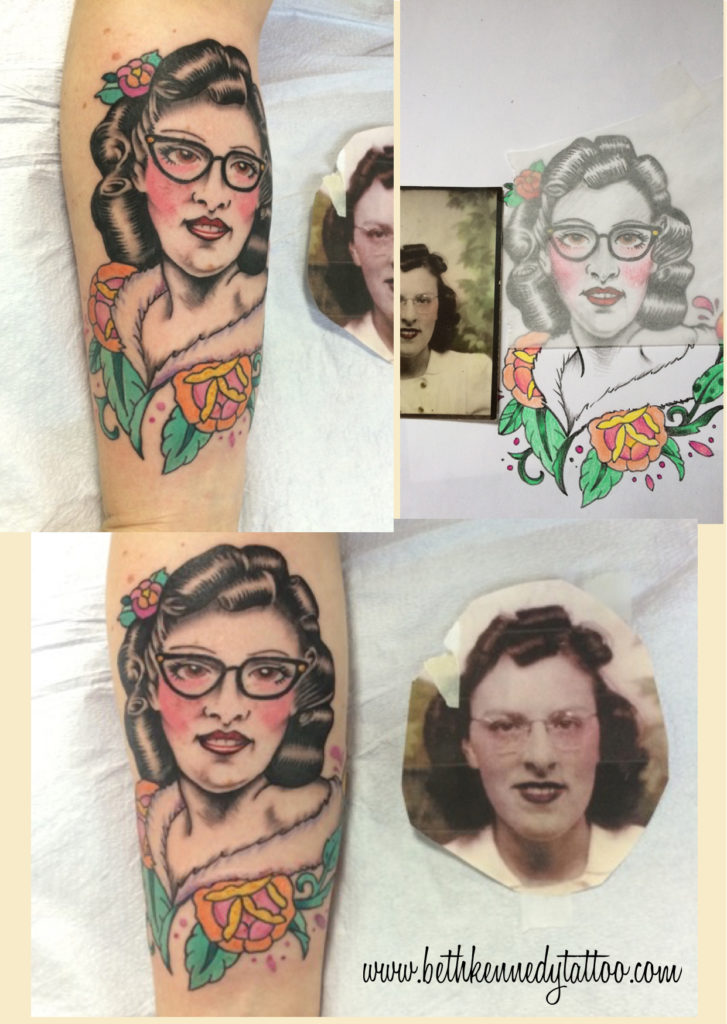 Rachel's Grandmother as a Traditional Pin Up - Beth Kennedy